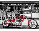 Puzzle Czerwony motocykl