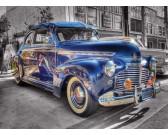 Puzzle Niebieski samochód