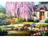 Puzzle Kwitnąca wiśnia