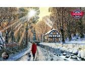 Puzzle Leśna ścieżka w zimie