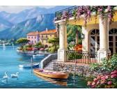 Puzzle Willa nad jeziorem