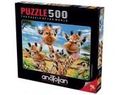 Puzzle Selfie z żyrafą