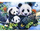 Puzzle Rodzina pand