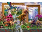 Puzzle Spojrzenie do świata dinozaurów