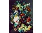Puzzle Martwa natura z owocami i kwiatami