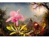 Puzzle Orchidea i trzy kolibry