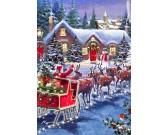 Puzzle Święty Mikołaj na saniach