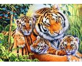 Puzzle Rodzina tygrysów