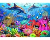 Puzzle Rafa koralowa delfinów