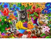 Puzzle Figlarne kocięta
