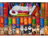 Puzzle Książki o kotach