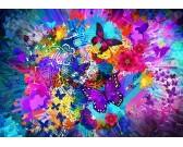 Puzzle Kwiaty i motyle
