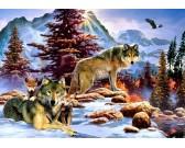 Puzzle Rodzina wilków