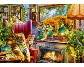 Puzzle Żywy obraz - tygrysy