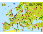 Puzzle Mapa Europy - PUZZLE DLA DZIECI
