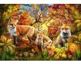 Puzzle Lisy jesienią