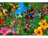 Puzzle Kolorowa dżungla