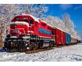 Puzzle Czerwony pociąg