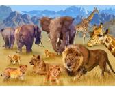 Puzzle Afrykańskie zwierzęta sawanny