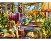 Puzzle Tygrysy z obrazu