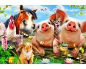 Puzzle Zwierzęta w gospodarstwie - PUZZLE DLA DZIECI