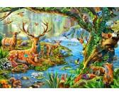 Puzzle Życie w lesie - PUZZLE DLA DZIECI