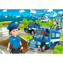 Puzzle Policja - PUZZLE DLA DZIECI