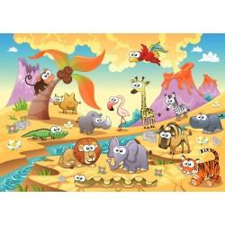 Puzzle Zwierzęta z sawanny - PUZZLE DLA DZIECI