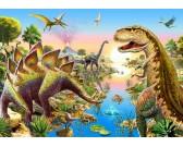 Puzzle Rzeka dinozaurów