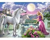 Puzzle Ksieżniczka i jej jednorożce - PUZZLE DLA DZIECI
