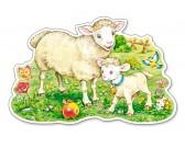 Puzzle Owieczki na łące - MAXI PUZZLE