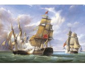 Puzzle Bitwa francuskich fregat