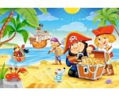 Puzzle Piraci na wyspie - MAXI PUZZLE