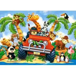 Puzzle Pluszaki na safari - PUZZLE DLA DZIECI