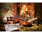 Puzzle Martwa natura ze skrzypcami i obrazem