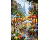 Puzzle Kwiatowy targ w Paryżu