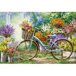 Puzzle Targ z kwiatami