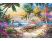 Puzzle Plaża z palmami