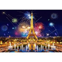 Puzzle Powab paryskiej nocy