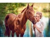 Puzzle Piękność z koniem