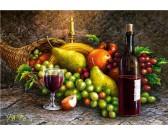 Puzzle Martwa natura z owocami i winem