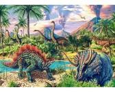 Puzzle Życie dinozaurów - PUZZLE DLA DZIECI