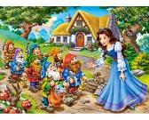 Puzzle Królewna Śnieżka i siedmiu krasnoludków - PUZZLE DLA DZIECI