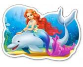 Puzzle Syrenka i delfin - PUZZLE DLA DZIECI