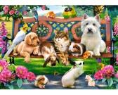 Puzzle Zwierzęta w parku - PUZZLE DLA DZIECI