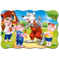 Puzzle Trzy małe świnki - PUZZLE DLA DZIECI