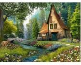 Puzzle Chatka w głębokim lesie