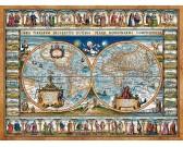 Puzzle Mapa świata z 1639 roku