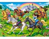Puzzle Księżniczki na koniach - PUZZLE DLA DZIECI