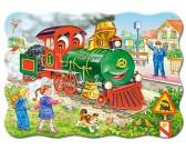 Puzzle Zielona lokomotywa - PUZZLE DLA DZIECI
